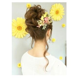 ウェーブ デート アンニュイ ヘアアレンジ ヘアスタイルや髪型の写真・画像 ヘアスタイルや髪型の写真・画像
