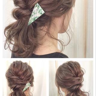 アップスタイル ヘアアレンジ ルーズ パーティ ヘアスタイルや髪型の写真・画像