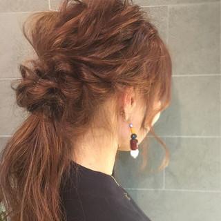簡単 ショート 波ウェーブ ロング ヘアスタイルや髪型の写真・画像