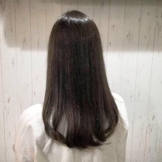 艶髪 セミロング ダークアッシュ グレージュ ヘアスタイルや髪型の写真・画像