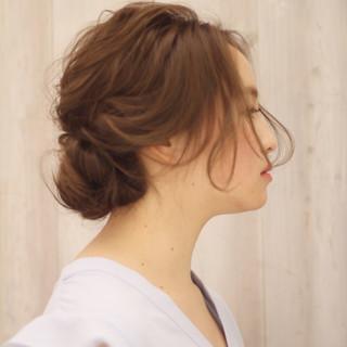 大人かわいい ヘアアレンジ 夏 セミロング ヘアスタイルや髪型の写真・画像