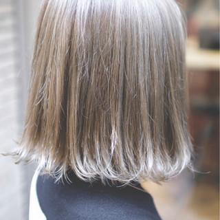 ガーリー ハイライト ボブ 外国人風カラー ヘアスタイルや髪型の写真・画像