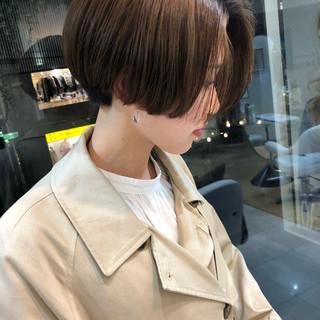 ハンサムショート ミニボブ ショートヘア ショートボブ ヘアスタイルや髪型の写真・画像