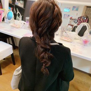 簡単ヘアアレンジ ロング 結婚式 黒髪 ヘアスタイルや髪型の写真・画像