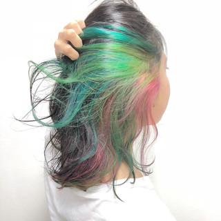 フェミニン 外国人風カラー セミロング 女子力 ヘアスタイルや髪型の写真・画像 ヘアスタイルや髪型の写真・画像