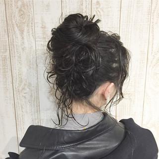 小顔 モード ロング ニュアンス ヘアスタイルや髪型の写真・画像