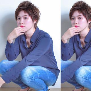 前髪あり 外国人風 ショート かっこいい ヘアスタイルや髪型の写真・画像