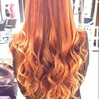 ハイライト ローライト ロング ストリート ヘアスタイルや髪型の写真・画像