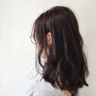 ミディアム ストリート 大人女子 パープル ヘアスタイルや髪型の写真・画像