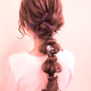 結婚式 編み込み ヘアアレンジ パーティ ヘアスタイルや髪型の写真・画像