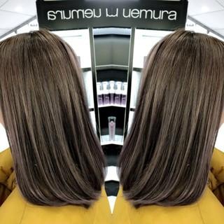 派手髪 グラデーションカラー イルミナカラー ナチュラル ヘアスタイルや髪型の写真・画像