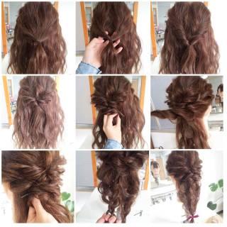 愛され コンサバ 簡単ヘアアレンジ ヘアアレンジ ヘアスタイルや髪型の写真・画像