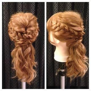 ヘアアレンジ セミロング ナチュラル 大人かわいい ヘアスタイルや髪型の写真・画像