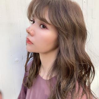 セミロング 透明感カラー オフィス 春ヘア ヘアスタイルや髪型の写真・画像