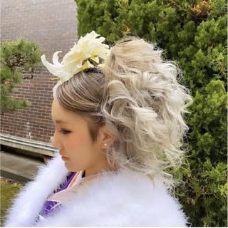 外国人風カラー ロング ヘアアレンジ ギャル ヘアスタイルや髪型の写真・画像