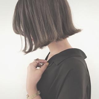 ボブ 外国人風カラー ナチュラル 黒髪 ヘアスタイルや髪型の写真・画像