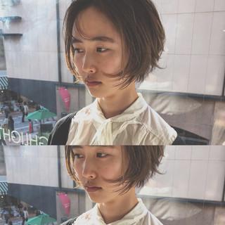 ナチュラル ショートヘア デート ショートボブ ヘアスタイルや髪型の写真・画像 ヘアスタイルや髪型の写真・画像