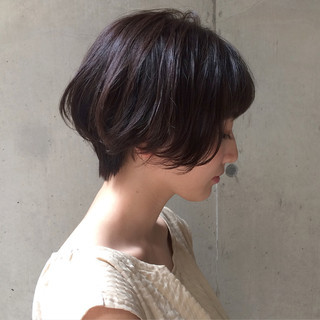 似合わせ 小顔 ショートボブ デート ヘアスタイルや髪型の写真・画像