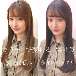 TOKIOトリートメント 前髪あり 前髪 イルミナカラー ヘアスタイルや髪型の写真・画像