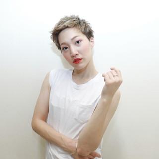 抜け感 外国人風 アッシュ ショート ヘアスタイルや髪型の写真・画像