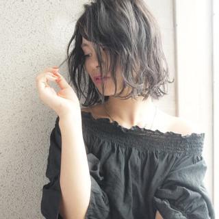 似合わせ ゆるふわ 透明感 ショート ヘアスタイルや髪型の写真・画像