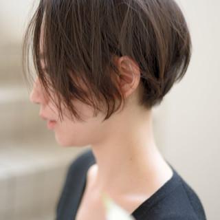 前下がりヘア ショート 大人かわいい 前下がりショート ヘアスタイルや髪型の写真・画像