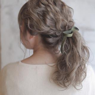 ショート パーマ ヘアアレンジ ミディアム ヘアスタイルや髪型の写真・画像