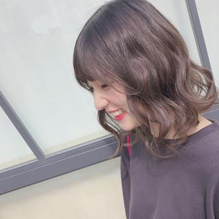 大人ミディアム ゆるふわセット ミディアム フェミニン ヘアスタイルや髪型の写真・画像