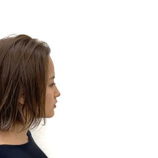 外国人風 ボブ ハイライト アンニュイほつれヘア ヘアスタイルや髪型の写真・画像