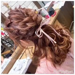 ヘアアレンジ デート ガーリー ロング ヘアスタイルや髪型の写真・画像