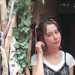 簡単ヘアアレンジ ヘアアレンジ ストリート ミディアム ヘアスタイルや髪型の写真・画像