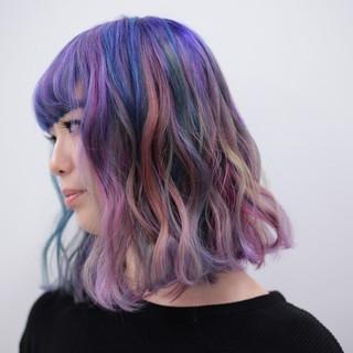 ストリート ミディアム ハイトーン ボブ ヘアスタイルや髪型の写真・画像