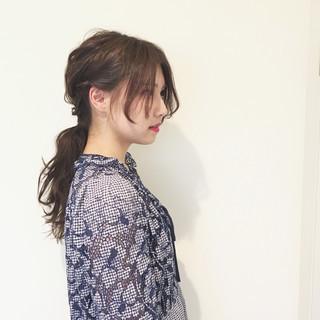 ヘアアレンジ くすみカラー 外国人風カラー ロング ヘアスタイルや髪型の写真・画像