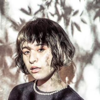 ピュア パーマ モード アッシュ ヘアスタイルや髪型の写真・画像
