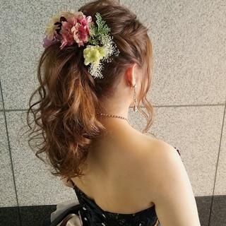 ロング フェミニン ポニーテール アップスタイル ヘアスタイルや髪型の写真・画像