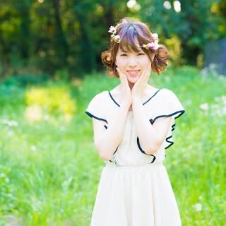 ヘアアレンジ ガーリー アップスタイル ミディアム ヘアスタイルや髪型の写真・画像