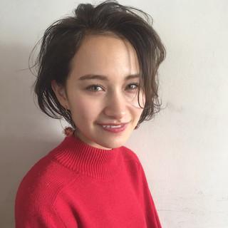 こなれ感 ボブ ニュアンス 大人女子 ヘアスタイルや髪型の写真・画像