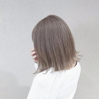 ガーリー 透明感 外国人風カラー グレージュ ヘアスタイルや髪型の写真・画像
