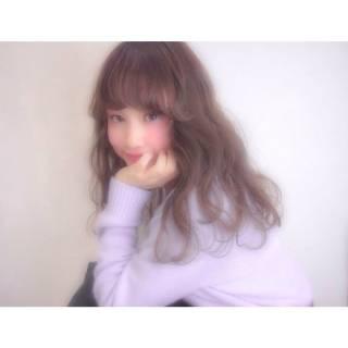 モテ髪 ゆるふわ ガーリー ロング ヘアスタイルや髪型の写真・画像