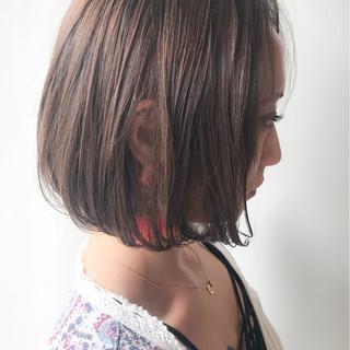 コンサバ ボブ 愛され ゆるふわ ヘアスタイルや髪型の写真・画像