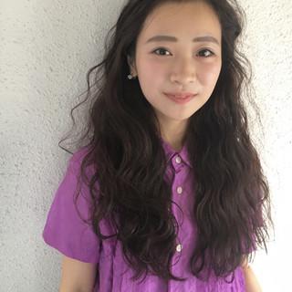 大人かわいい アウトドア ヘアアレンジ ロング ヘアスタイルや髪型の写真・画像