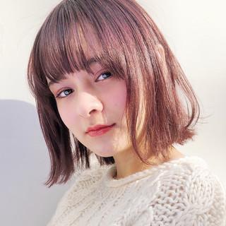 透明感カラー ボブ モテボブ ナチュラル ヘアスタイルや髪型の写真・画像