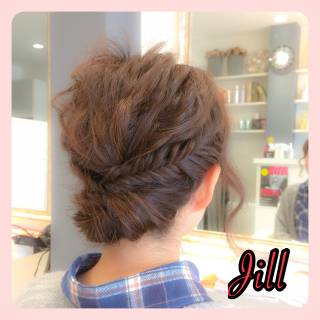 ボブ ヘアアレンジ 簡単ヘアアレンジ 波ウェーブ ヘアスタイルや髪型の写真・画像 ヘアスタイルや髪型の写真・画像