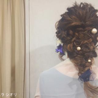 編み込み パーティ 外国人風 ヘアアレンジ ヘアスタイルや髪型の写真・画像