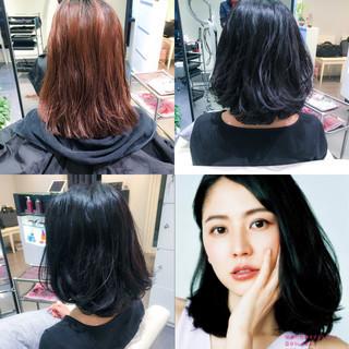 デート 色気 ナチュラル フリンジバング ヘアスタイルや髪型の写真・画像