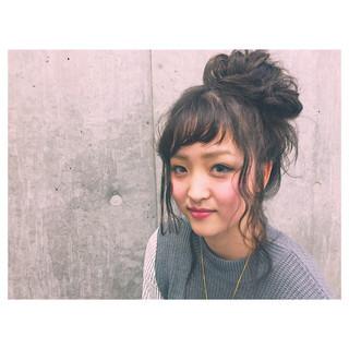 ルーズ セミロング アッシュ ヘアアレンジ ヘアスタイルや髪型の写真・画像 ヘアスタイルや髪型の写真・画像