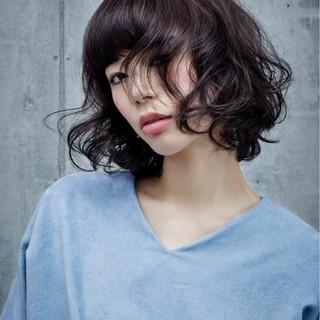 アンニュイ ボブ イルミナカラー パーマ ヘアスタイルや髪型の写真・画像 ヘアスタイルや髪型の写真・画像