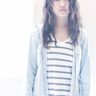 モテ髪 グラデーションカラー ガーリー セミロング ヘアスタイルや髪型の写真・画像