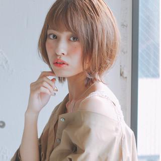 ショート 小顔ショート アンニュイほつれヘア ひし形シルエット ヘアスタイルや髪型の写真・画像
