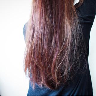 ピンク ナチュラル フェミニン ロング ヘアスタイルや髪型の写真・画像